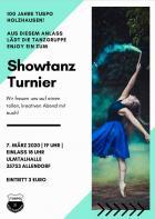 Showtanz-Turnier am 7. 3. 2020 zum Vereinsjubiläum